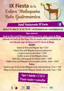 Celebra en el Hotel y Restaurante El Corte la Fiesta de la Cabra Malagueña